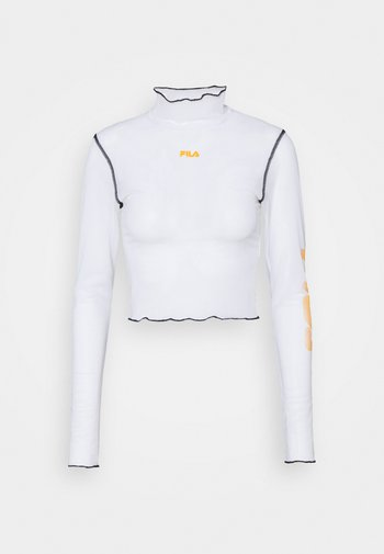 ALYRA CROPPED TOP - Long sleeved top - bright white