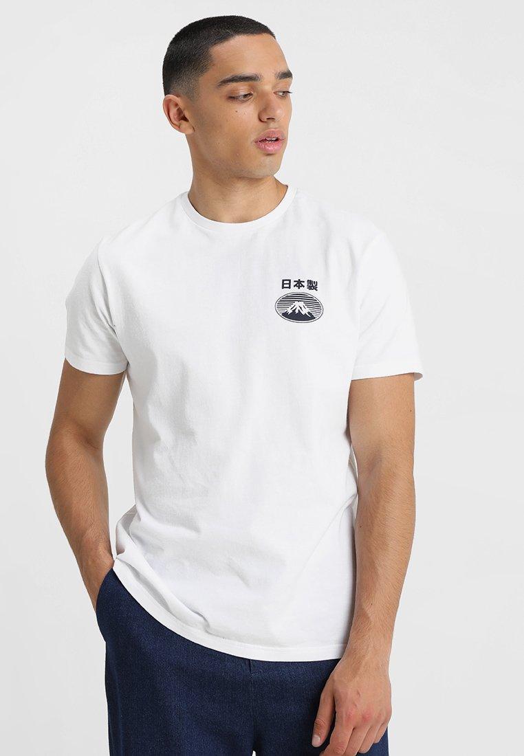 Edwin - FUJI SAN  - T-shirt imprimé - white
