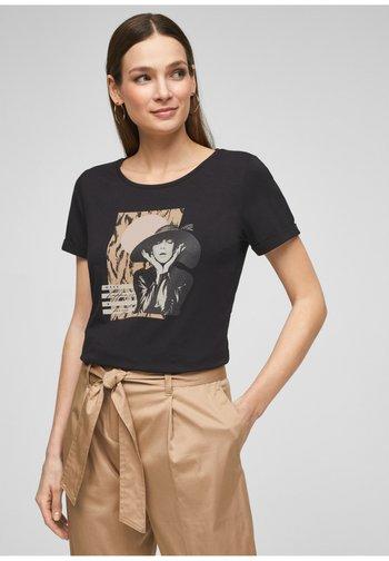 MIT FRONTPRINT - Print T-shirt - black