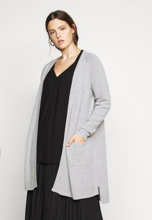 VMTUDARNEL OPEN - Cardigan - light grey melange