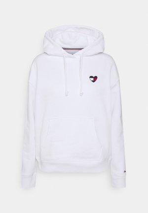 HOMESPUN HEART HOODIE - Sweatshirt - white