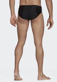 adidas Performance - Fitness 3-Stripes Swim Trunks - Bañador - black/white - 2