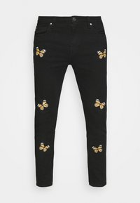 Night Addict - BUTTERFLY - Jeans Tapered Fit - charcoal - 3