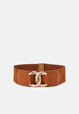 PCALIZA WAIST BELT - Pásek - tan/gold-coloured