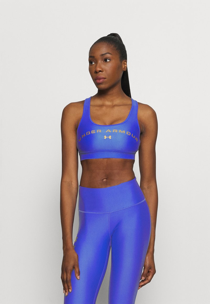 Under Armour - MID CROSSBACK BRA - Sports bra - emotion blue