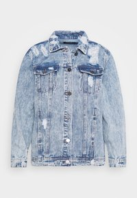 Simply Be - RIPPED OVERSIZED JACKET - Denim jacket - stonewash - 6