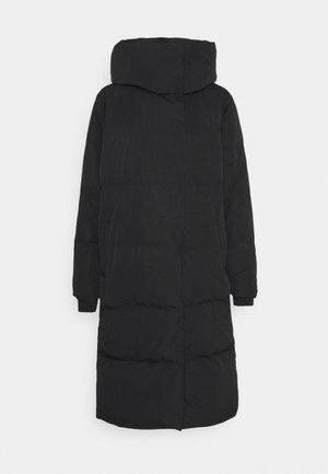 OBJLOUISE LONG JACKET - Abrigo de plumas - black