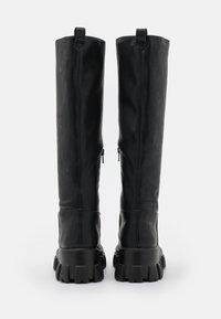 NA-KD - PROFILE SHAFT BOOTS - Platform boots - black - 3