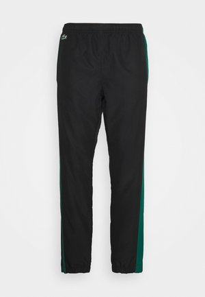 TENNIS PANT - Tracksuit bottoms - black/bottle green