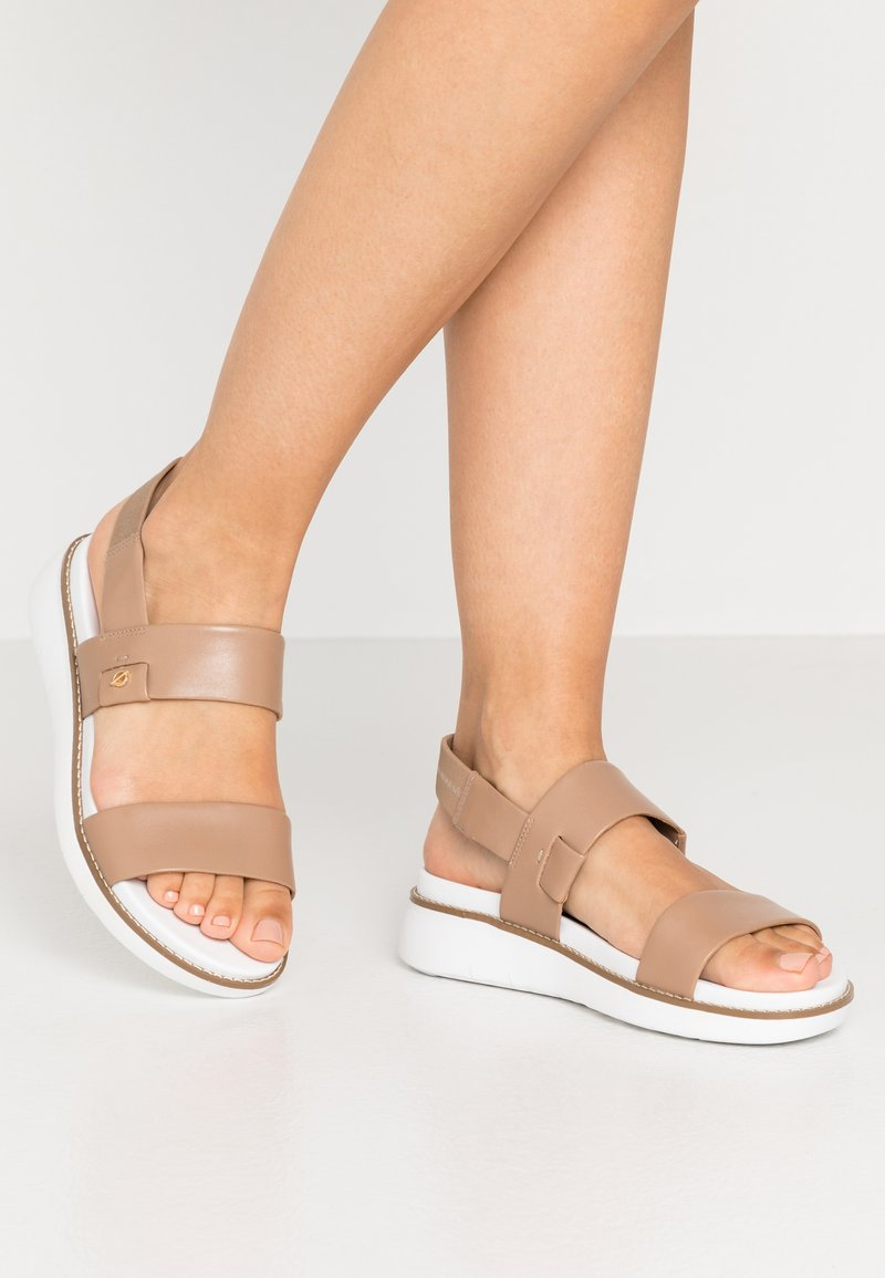 Cole Haan - ZEROGRAND GLOBAL DOUBLE BAND - Platform sandals - amphora/optic white