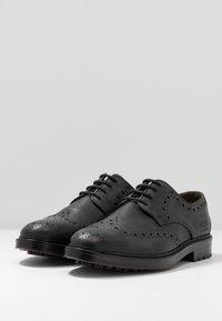 Barbour - OUSE - Smart lace-ups - black - 2