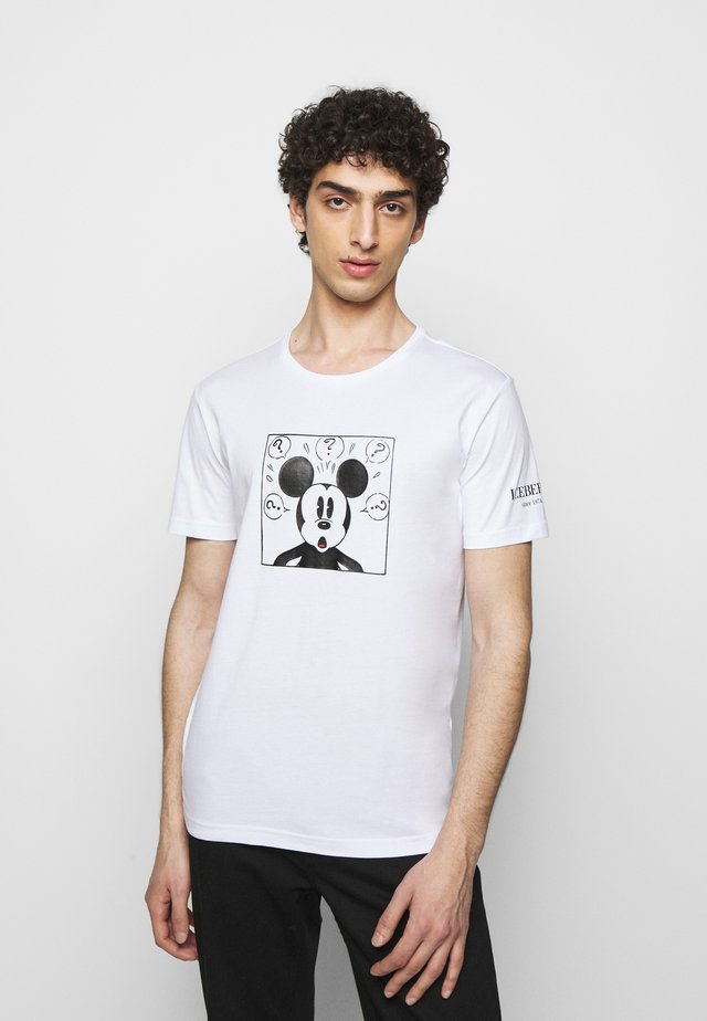 NEW COLLECTION WITH MICKEY MOUSE - T-shirt con stampa - bianco ottico