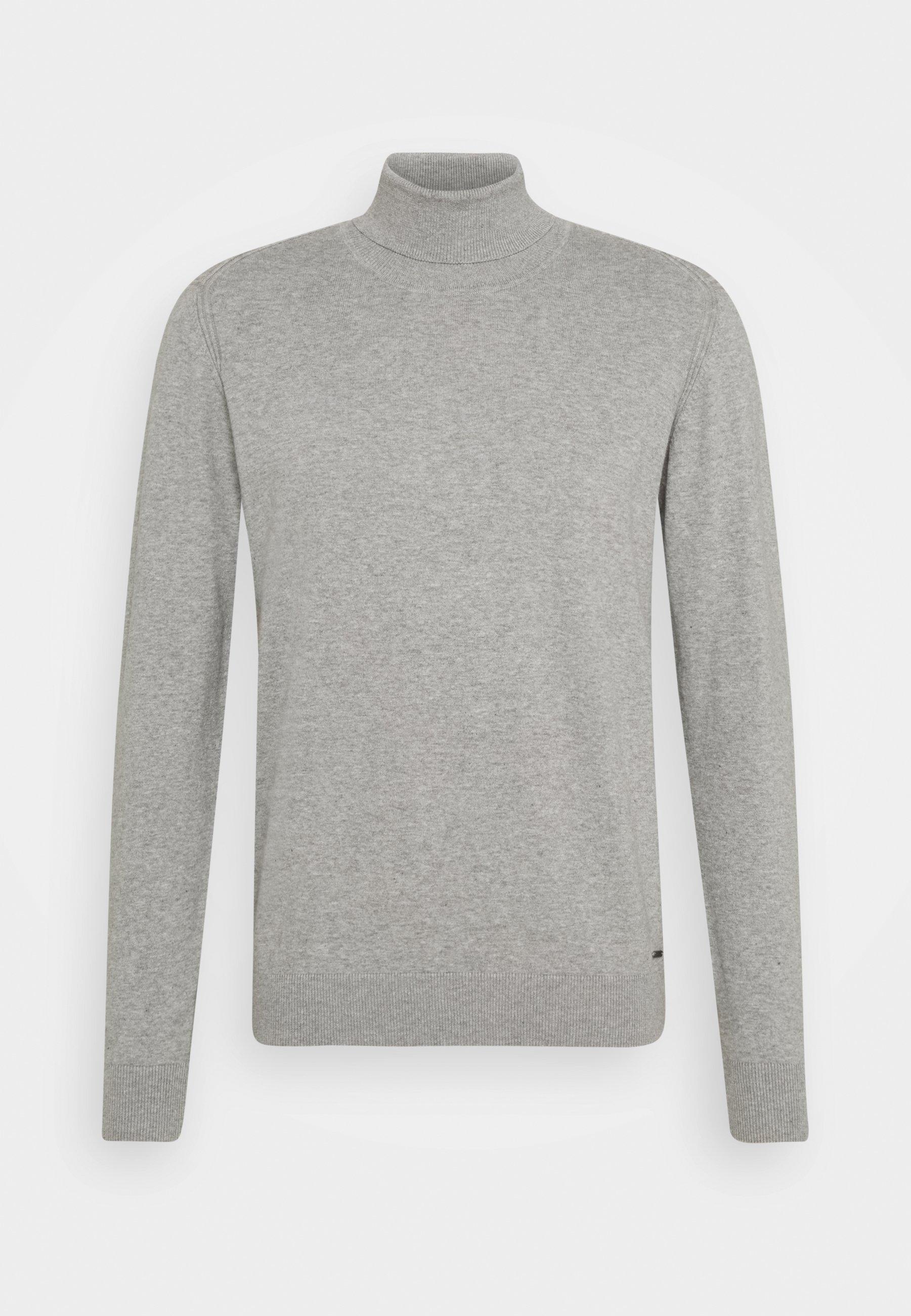 INDICODE JEANS BURNS - Strikkegenser - mottled light grey