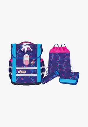 SET 4 - Schooltas set - dark purple
