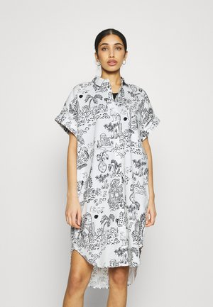WANNA DRESS - Shirt dress - white light