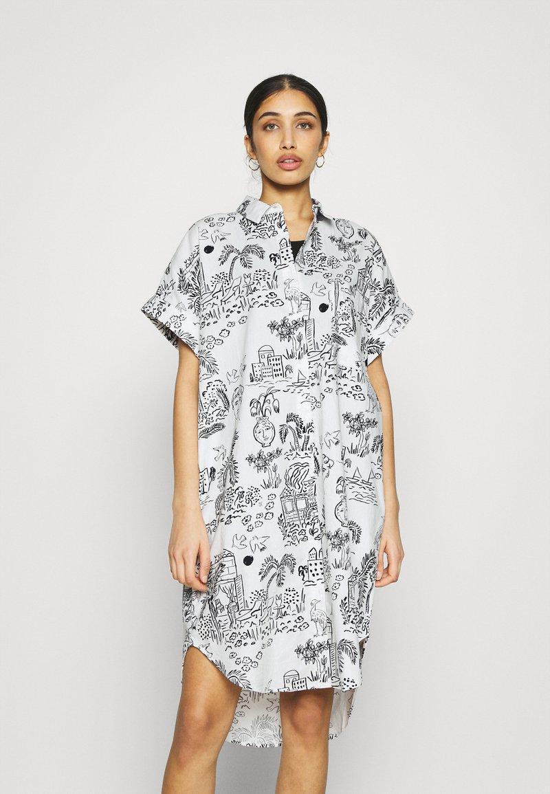 Monki - Shirt dress - white light