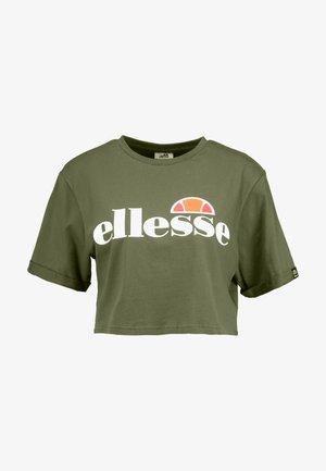 ALBERTA - T-shirt con stampa - khaki