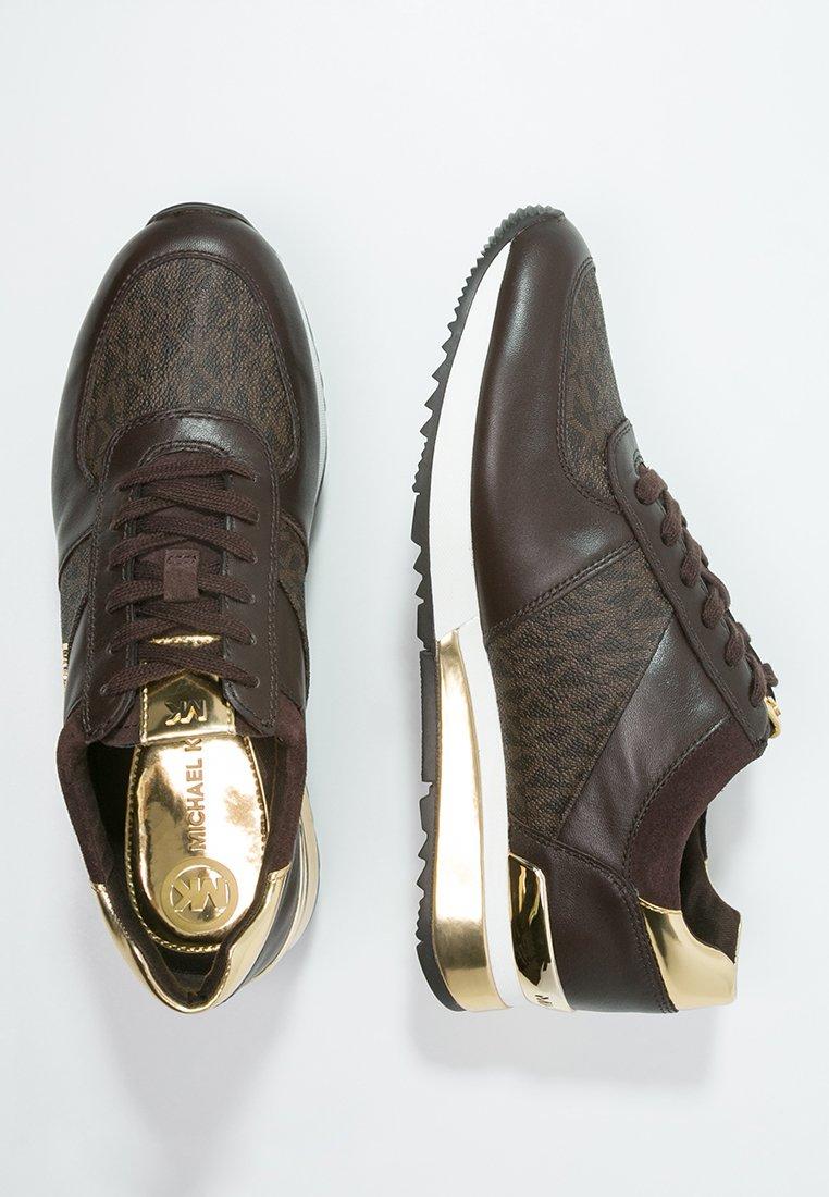 allie sneaker low brown michael kors