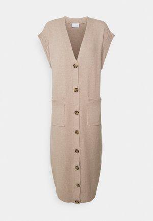 VIMELINDA LONG VEST - Gebreide jurk - natural melange