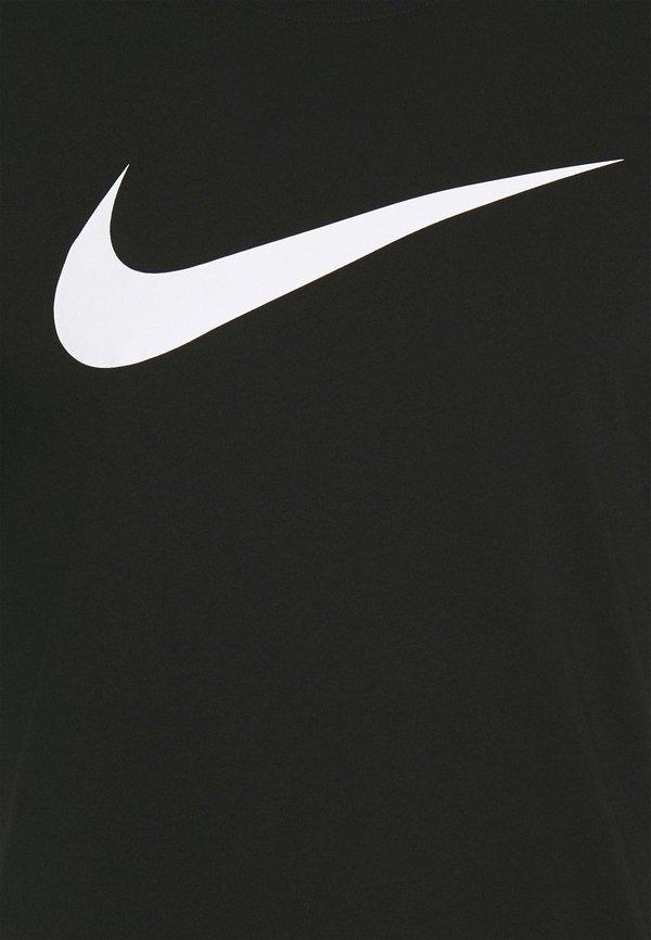 Nike Sportswear TEE ICON - T-shirt z nadrukiem - black/white/czarny Odzież Męska JKWV