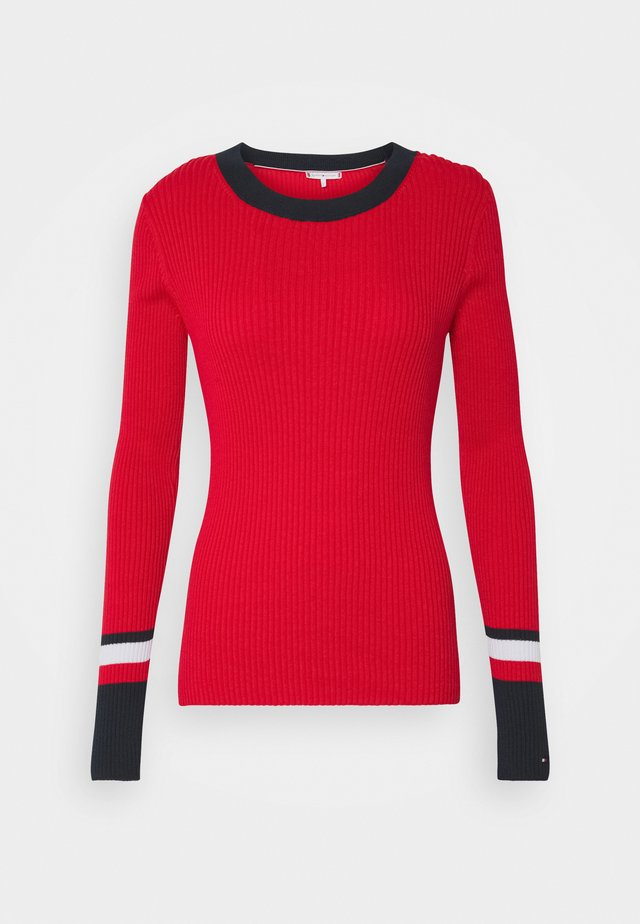 WARM GLOBAL STRIPE - Sweter - primary red