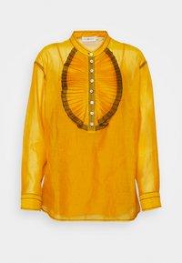 Tory Burch - RUFFLE FRONT BLOUSE - Long sleeved top - saffron gold - 7