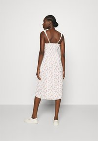 Abercrombie & Fitch - CINCH FRONT MIDI DRESS - Day dress - white - 2