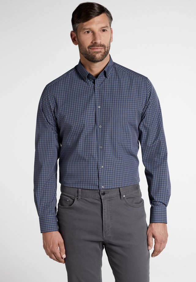 MODERN FIT - Shirt - anthracite/blue