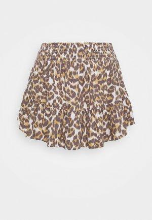PRINTED SKIRT - Mini skirt - brown