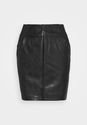 PCDEVORA SKIRT - Mini skirt - black