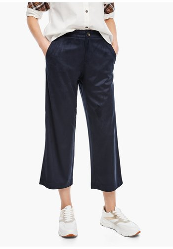 CULOTTE AUS VELOURS - Trousers - navy