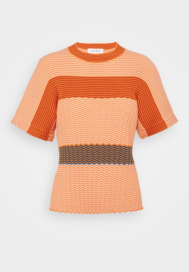 MINI STRIPE TEE - Trui - orange/ecru/multi