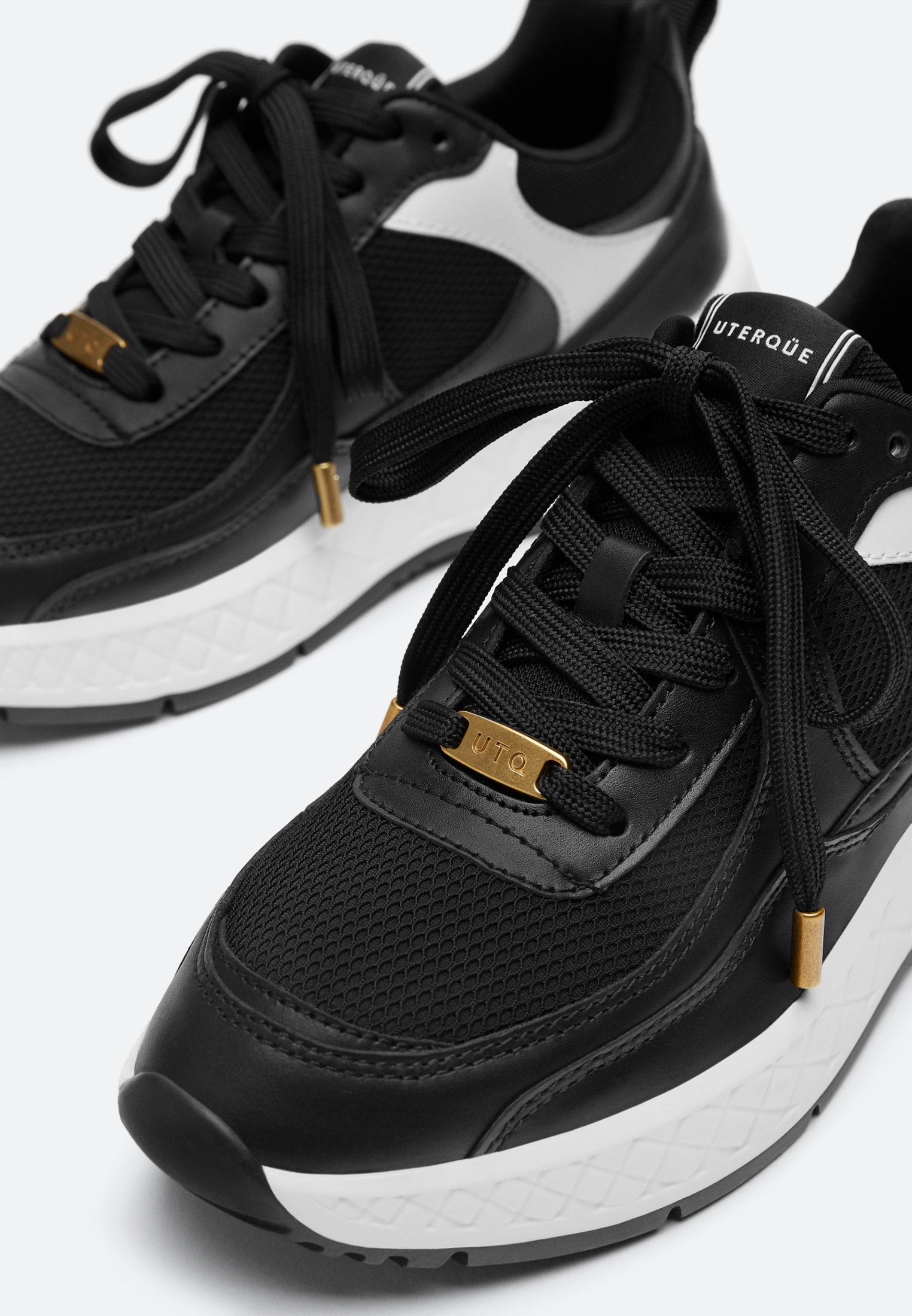 Uterqüe Sneaker low black/schwarz