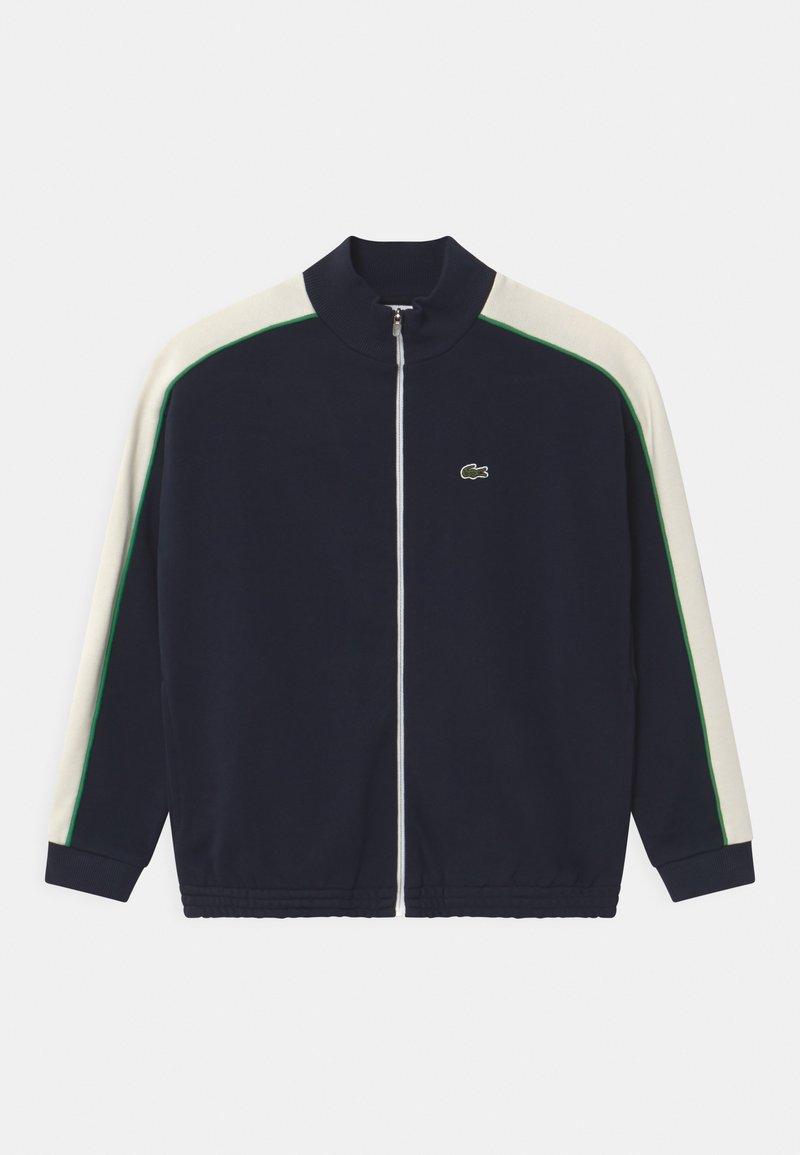 Lacoste - Zip-up hoodie - navy blue/flour-chervil