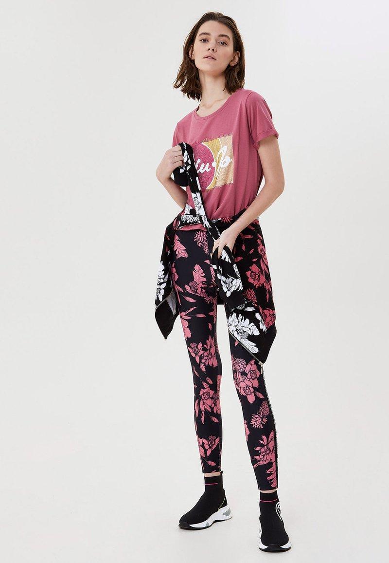 LIU JO - Leggings - Trousers - black/pink