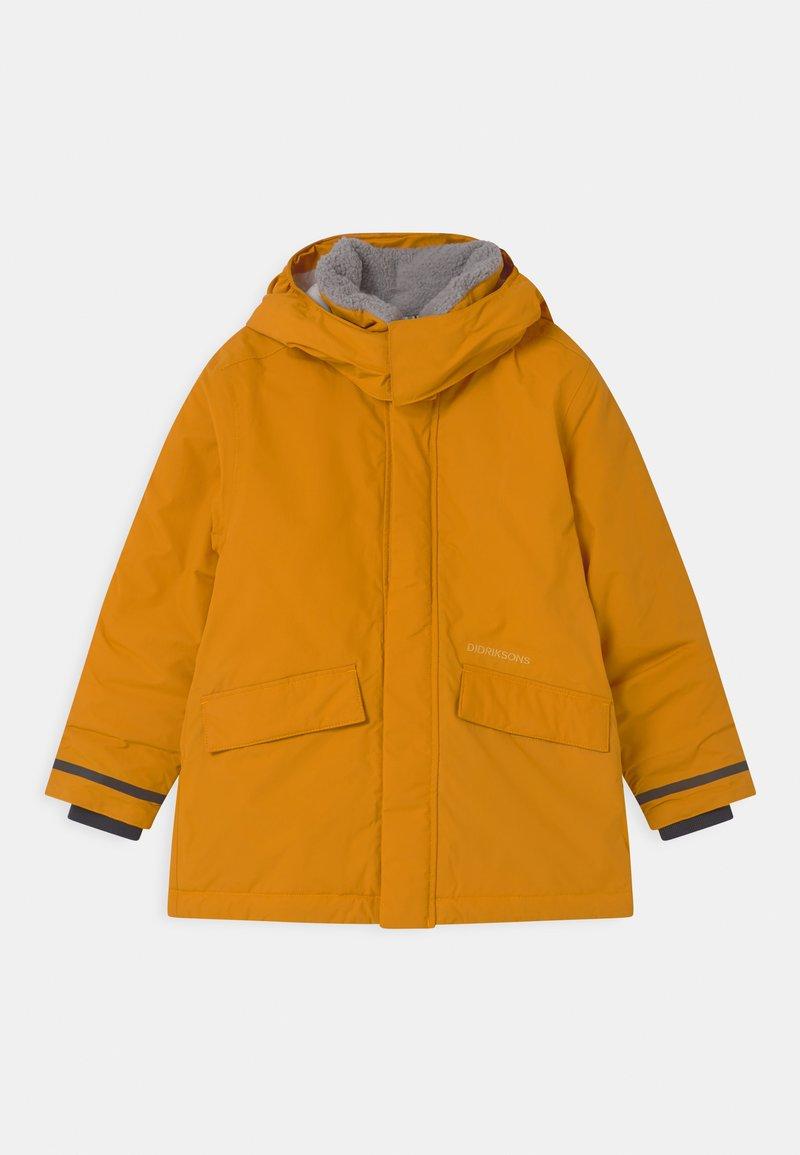 Didriksons - OSTRONET UNISEX - Winter jacket - yellow ochre