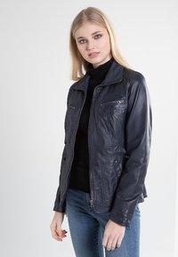 7eleven - SISSY - Leather jacket - navy - 2