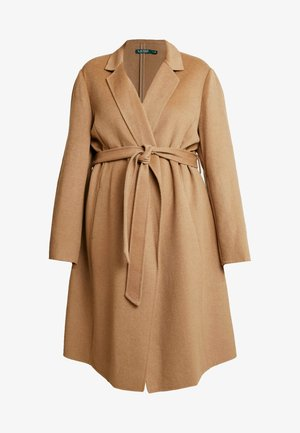 WRAP COAT - Kåpe / frakk - dark camel