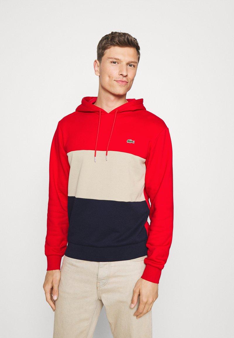 Lacoste - Sweatshirt - red/viennese/navy blue