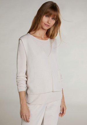 Sweatshirt - light beige