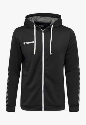 AUTHENTIC - Zip-up hoodie - black/white