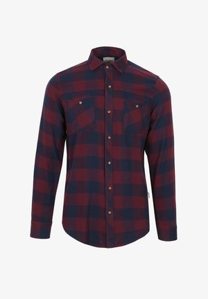 Shirt - burgundy check