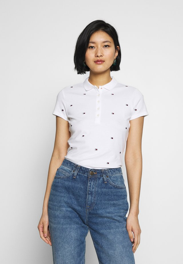 FELICIA SLIM EMBROIDERY - Polo shirt - white