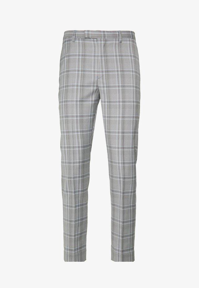 LARGE GRID CHECK TROUSER SKINNY - Anzughose - mid grey
