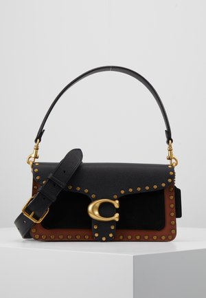 MIXED WITH BORDER RIVETS TABBY SHOULDER BAG - Sac à main - black multi