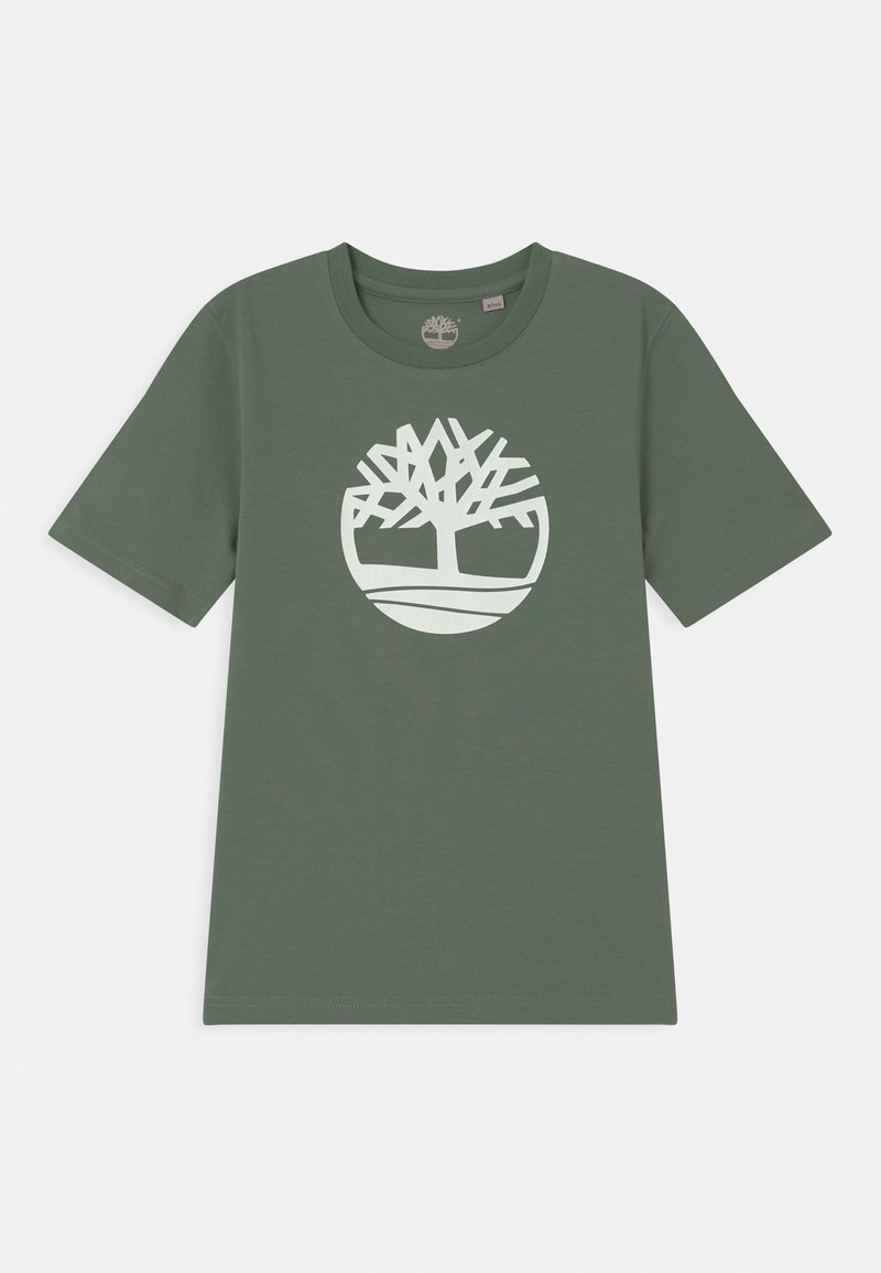 Timberland - SHORT SLEEVES - Print T-shirt - green