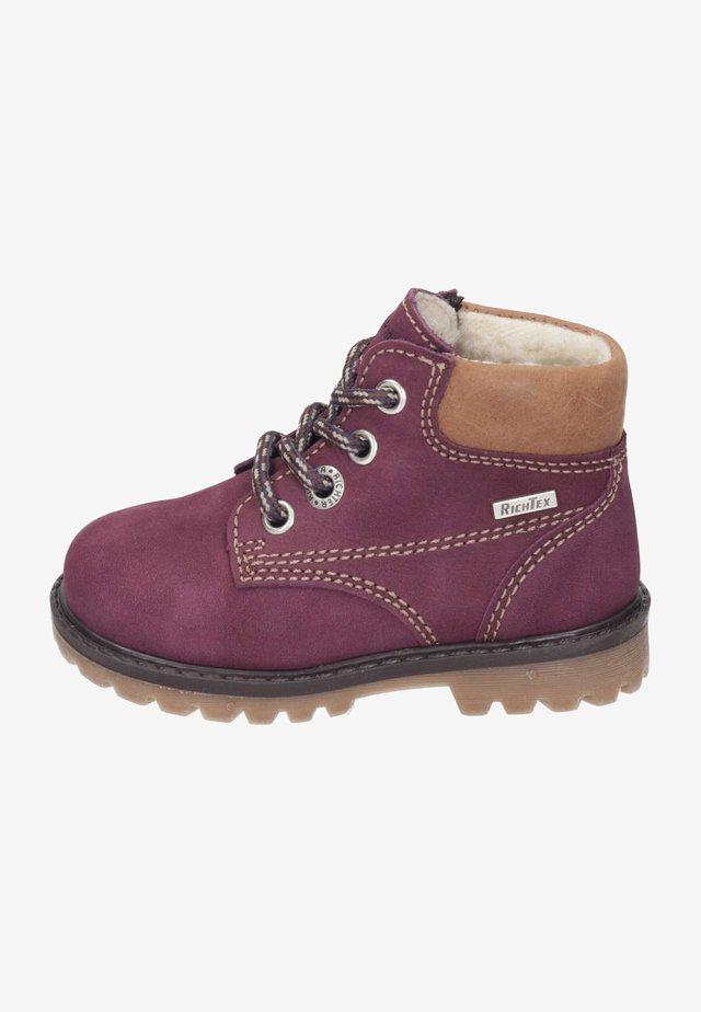 Winter boots - burgundy/cognac
