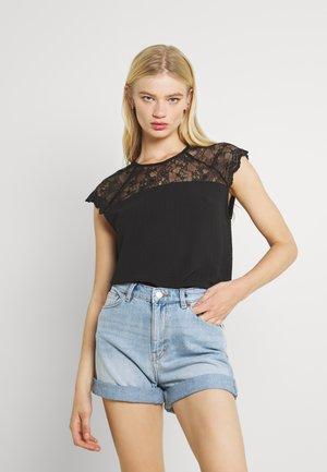 VILOVIE CAPSLEEVE - Camiseta estampada - black