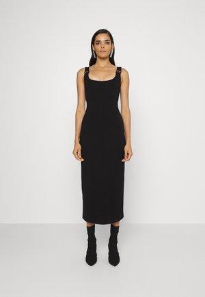 BUCKLE PENCIL DRESS - Cocktailklänning - black