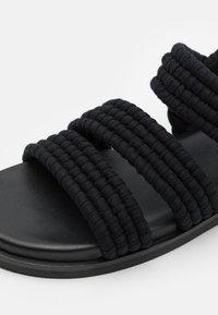 ARKET - SANDALS - Sandaalit nilkkaremmillä - black - 5